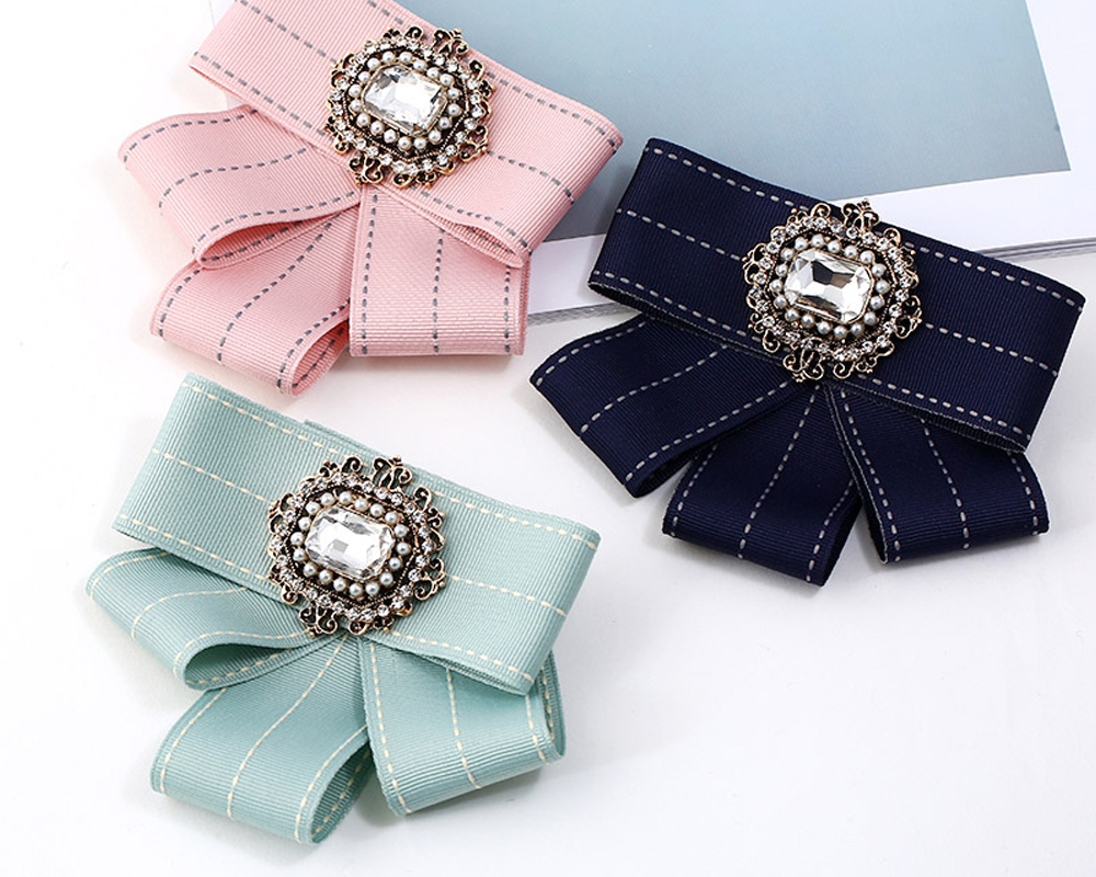 Femmes Bow Broches Broches Ruban Trendy Broches Bijoux Bowknot Broche Vintage Col Pin Corsage Shirt Robe Bijoux