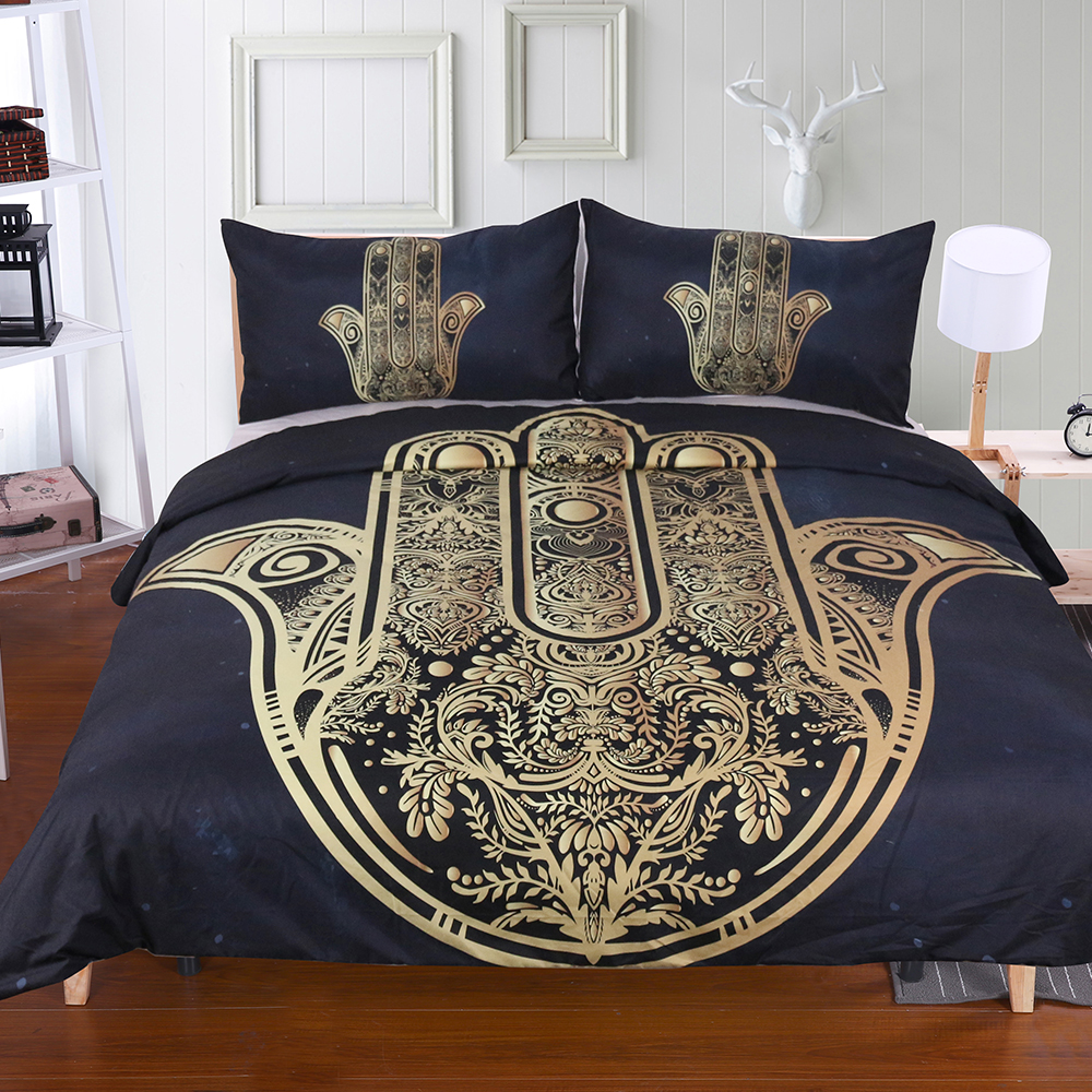Hamsa Hand Bedding housse de couette Set Digital Print 3pcs