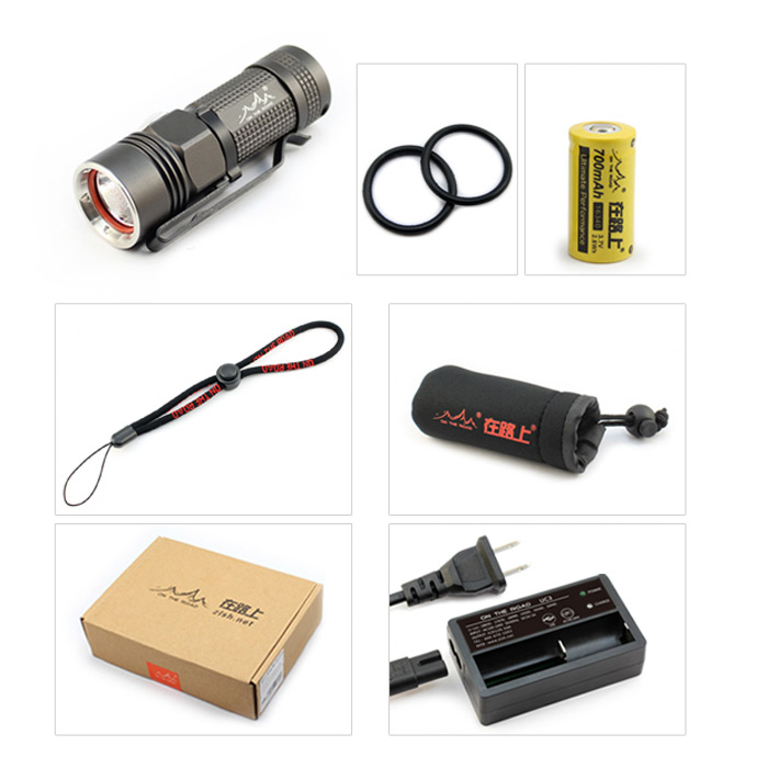 ON THE ROAD M3 Cree XM - L2 U2 1A 920Lm Mini Unibody de Linterna LED