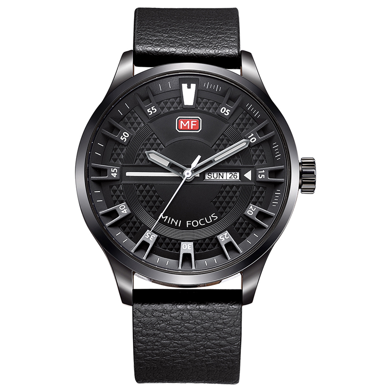 MINI FOCUS Mf0028G 4289 Montre Masculin Affichage du Calendrier à la Mode