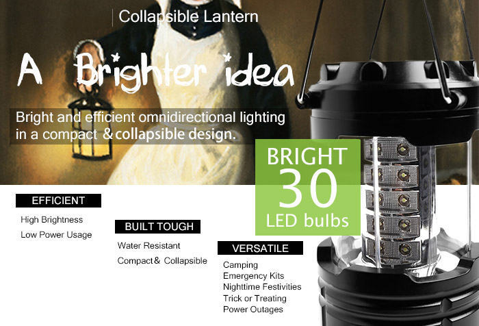 Outdoor Portable Collapsible LED Camping Lantern