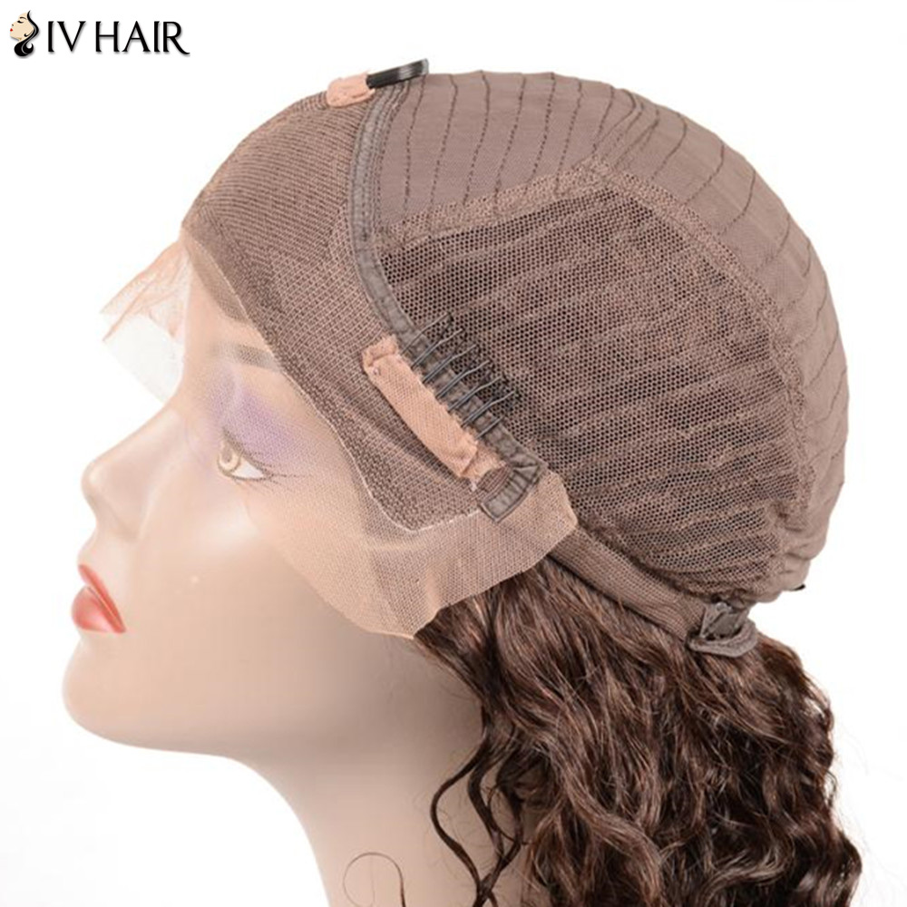 Siv Hair Dyed Perm Free Part Short Body Wave Lace Front 100% Human Hair Wig