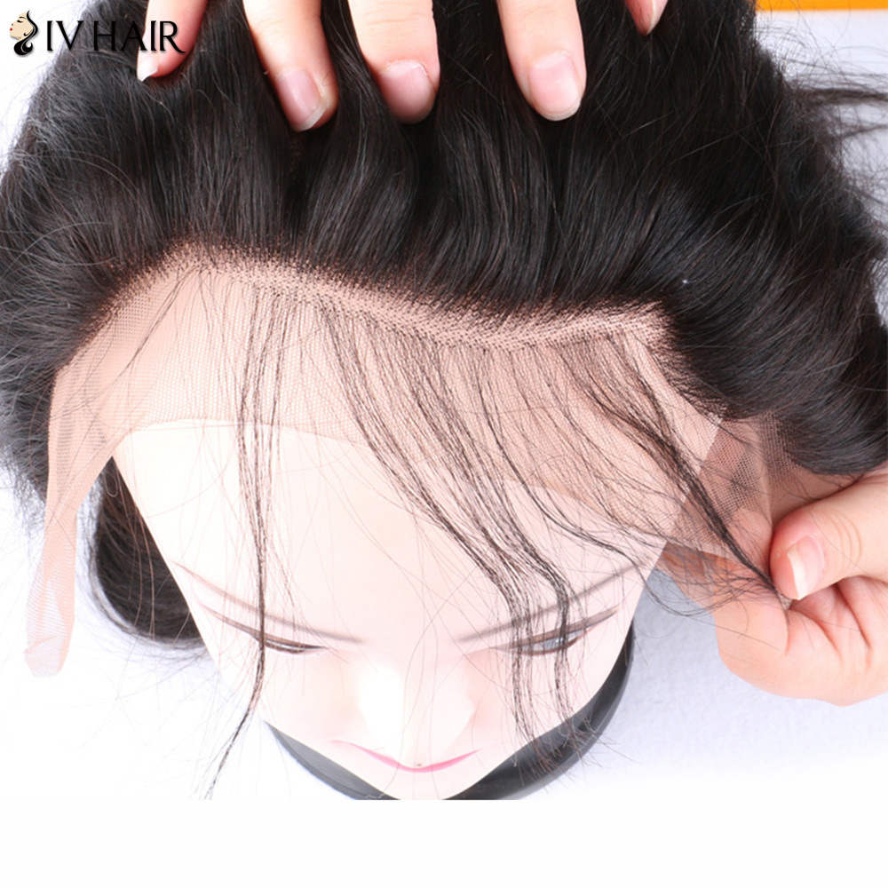 Siv Hair Lace Front Dyed Perm Free Part Long Body Wave 100% Human Hair Wig