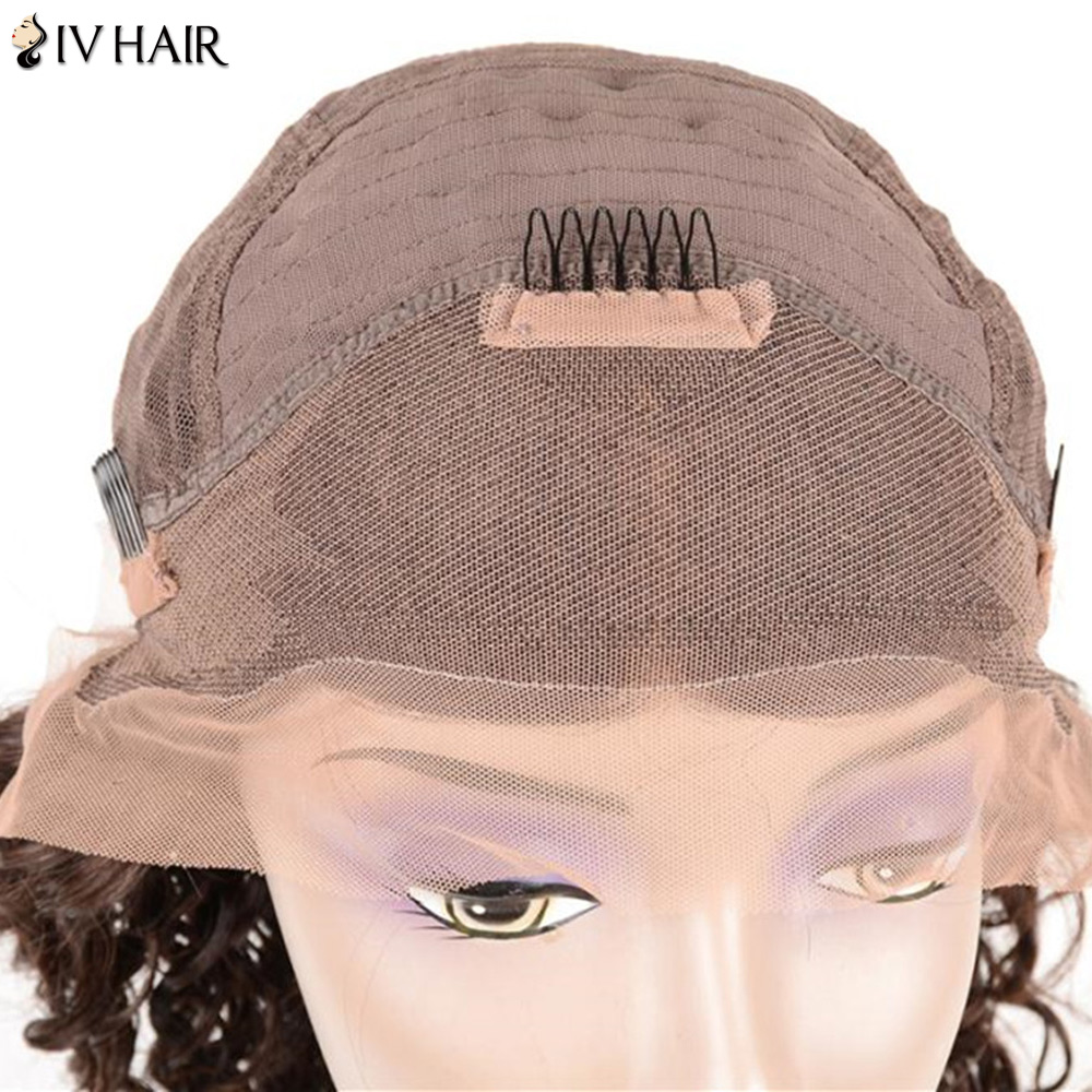 Siv Hair Lace Front Free Part Long Jerry Curly 100% Human Hair Wig